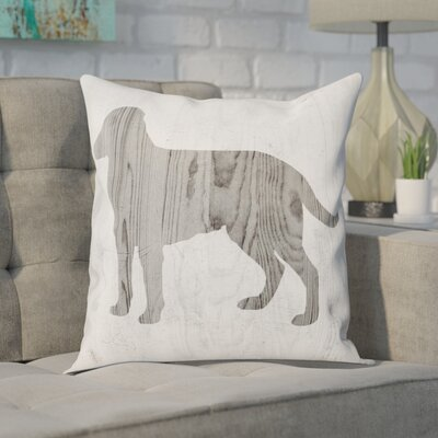 Dale Rustic Dog Love Throw Pillow