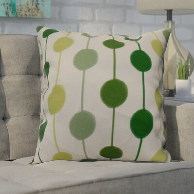 Leal Brady Beads Indoor/Outdoor Throw Pillow Size: 20 H x 20 W, Color: Green