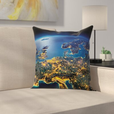 Continent Central Europe Square Pillow Cover Size: 16 x 16