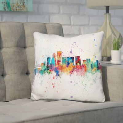Janousek Portland Oregon Throw Pillow
