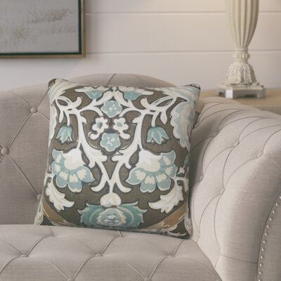 Mohall Floral Linen Throw Pillow Cover Color: Storm