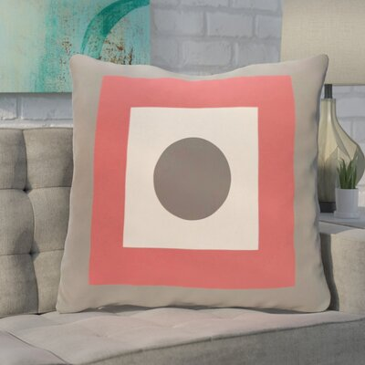 Carnell Throw Pillow Size: 16 H x 16 W, Color: Coral / Steel
