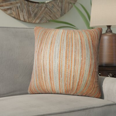 Aristocrat Stripes Throw Pillow Color: Orange