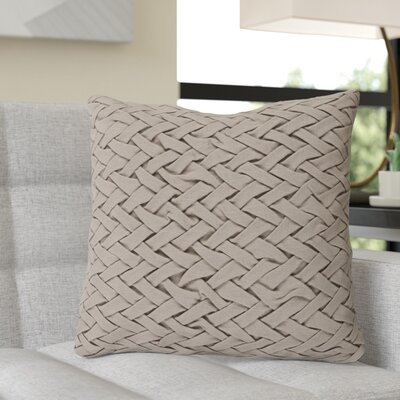 Krueger Down Throw Pillow Size: 20 H x 20 W x 4 D, Color: Taupe