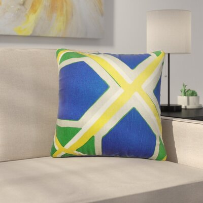 Bullis Geometric Cotton Throw Pillow Color: Ultramarine, Size: 24 x 24