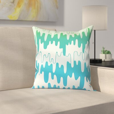 Joe Van Wetering Trippy Drippys Throw Pillow Size: 14 x 14