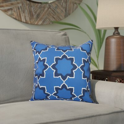 Meetinghouse Bohemian Geometric Print Throw Pillow Size: 16 H x 16 W, Color: Blue