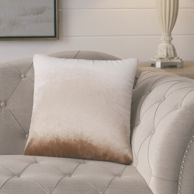 Pittenger Soft Luxury Velvet Throw Pillow Color: Brown