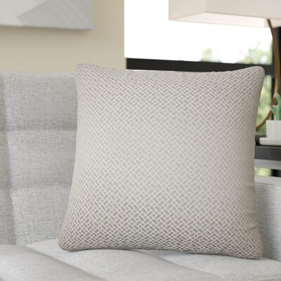 Reeser Geometric Throw Pillow Color: Dove