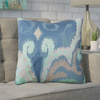 Chamberland Throw Pillow Size: 18 H x 18 W x 4 D, Color: Blue Jay / Pussywillow Gray / Teal, Filler: Down