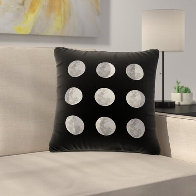 Jackie Rose Lunar OCD Outdoor Throw Pillow Size: 18 H x 18 W x 5 D
