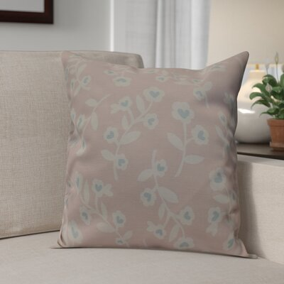 Valentines Floral Throw Pillow Size: 16 H x 16 W, Color: Pink