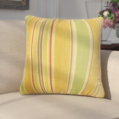 Emelie Stripes Cotton Throw Pillow Color: Yellow