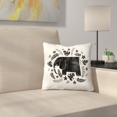 Tracie Andrews Elephant Throw Pillow Size: 18 x 18