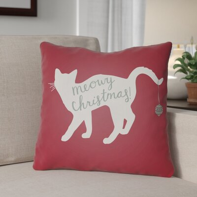 Outdoor Throw Pillow Size: 18 H x 18 W x 4 D, Color: Red / White