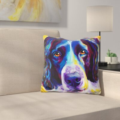 English Springer Spaniel Emma Throw Pillow