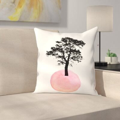 Pink Tree Throw Pillow Size: 20 x 20