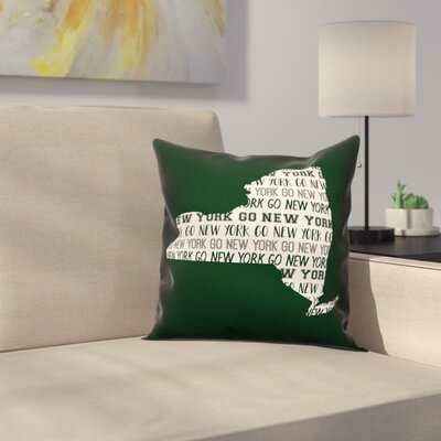 New York Go Team Throw Pillow Color: Green