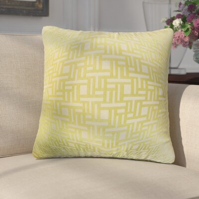Griswalda Geometric Throw Pillow Color: Keylime
