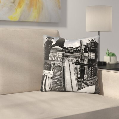 Manzanares Urban Stockholm Throw Pillow