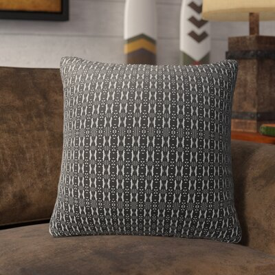 Liang Indoor/Outdoor Throw Pillow Color: White/Black, Size: 16 H x 16 W
