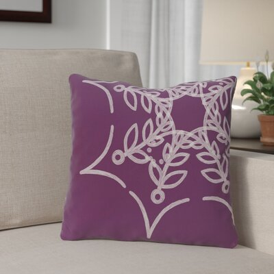 Spider Web Outdoor Throw Pillow Color: Purple
