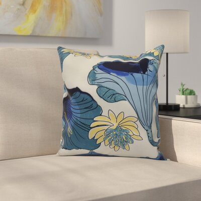 Memmott Throw Pillow Color: Teal, Size: 26 x 26