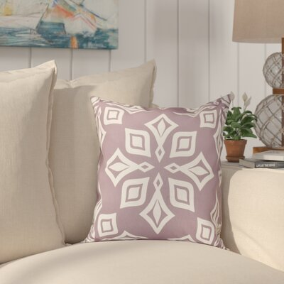 Cedarville Star Geometric Print Outdoor Throw Pillow Size: 18 H x 18 W, Color: Lavender