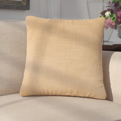 Mckayla Stain Resistant Down Filled Throw Pillow Color: Sisal