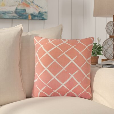 Frances Geometric Cotton Throw Pillow Color: Red