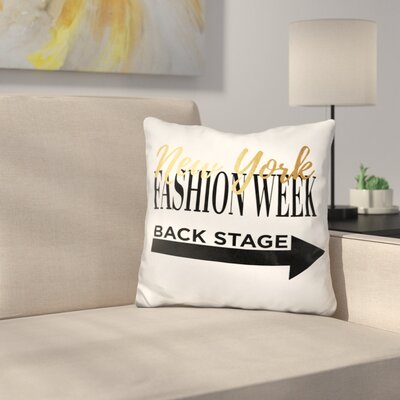 New York Fashion Week Throw Pillow