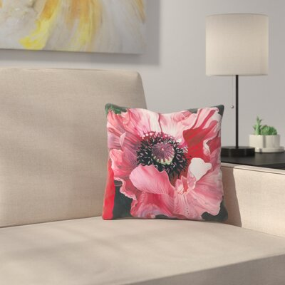 Oriental Poppy Elizabeth Hellman Throw Pillow Size: 20 x 20