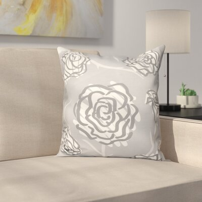 Aletha Spring Floral 2 Print Throw Pillow Size: 16 H x 16 W, Color: Gray