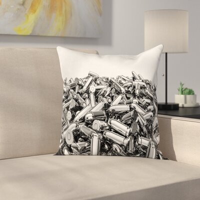 Pile of Bullets Square Cushion Pillow Cover Size: 24 x 24
