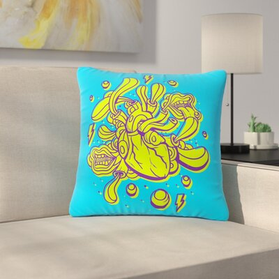 Roberlan Doodle Surreal Heart Outdoor Throw Pillow Size: 16 H x 16 W x 5 D