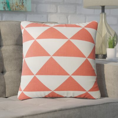 Carnell Geometric Cotton Throw Pillow Color: Red