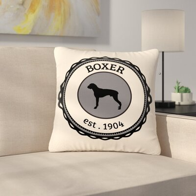Boxer Dogs Outdoor Throw Pillow Size: 18 H x 18 W x 5 D