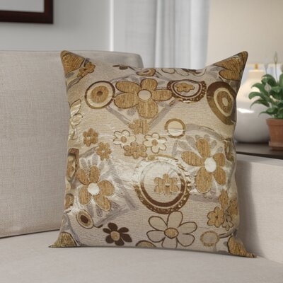 Merlene Daisy Decorative Throw Pillow Color: Gold