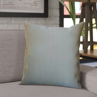 Sonny Decorative Square Silk Throw Pillow Color: Metal Green