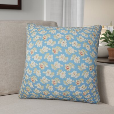 Nettey Floral Cotton Throw Pillow