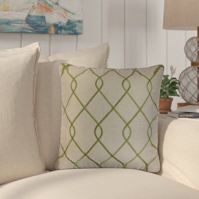 Larchwood Geometric Throw Pillow Color: Green
