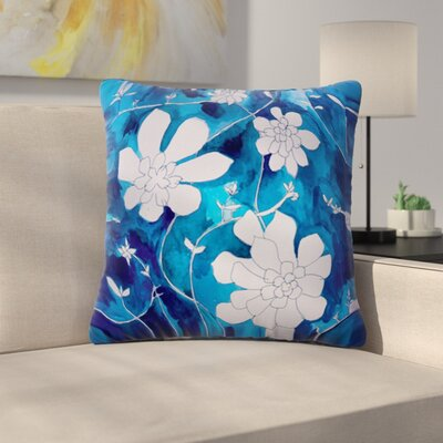 Succulent Dance by Theresa Giolzetti Outdoor Throw Pillow Color: Blue