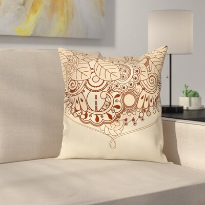 Indian Ethnic Design Cushion Pillow Cover Size: 16 x 16
