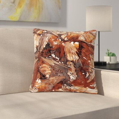 Ebi Emporium Birds Outdoor Throw Pillow Size: 16 H x 16 W x 5 D, Color: Beige