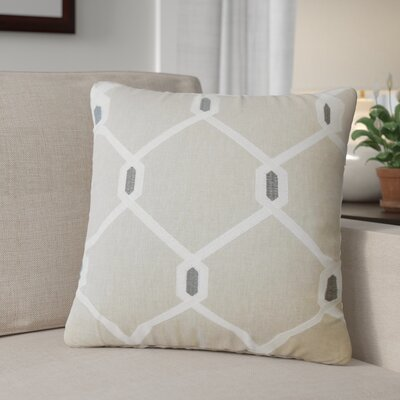 Kemo Geometric Throw Pillow Color: Pewter