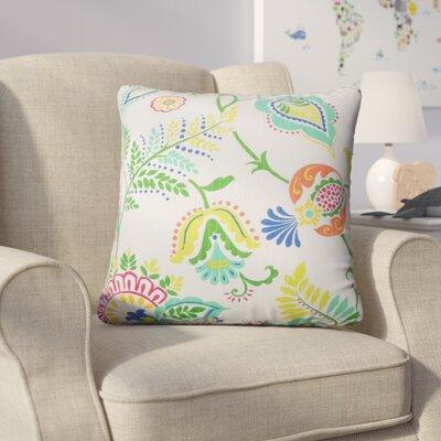 Calla Floral Cotton Throw Pillow Color: Aqua