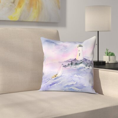 Light and Surf Throw Pillow Size: 16 x 16