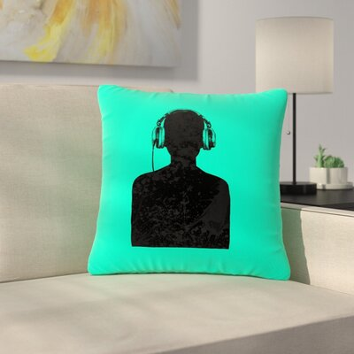 BarmalisiRTB Music Outdoor Throw Pillow Size: 16 H x 16 W x 5 D