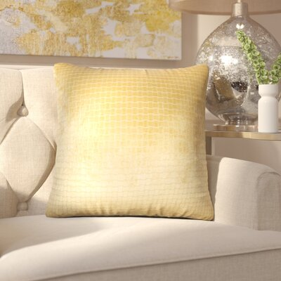 Vadim Solid Down Filled Throw Pillow Size: 24 x 24, Color: Camel
