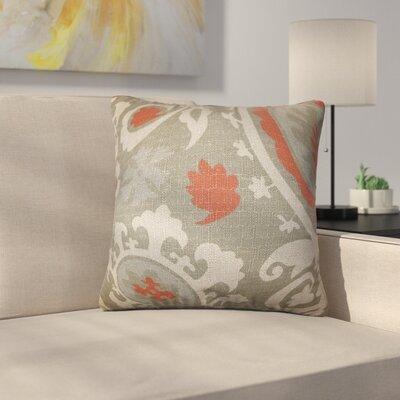 Stukes Floral Cotton Throw Pillow Color: Gray